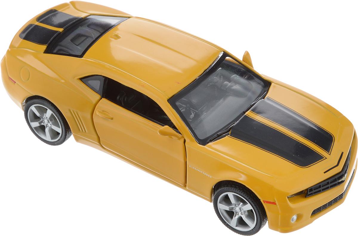 Autotime Модель автомобиля Chevrolet Camaro цвет желтый 34164 машинки autotime машина lada 2104 такси