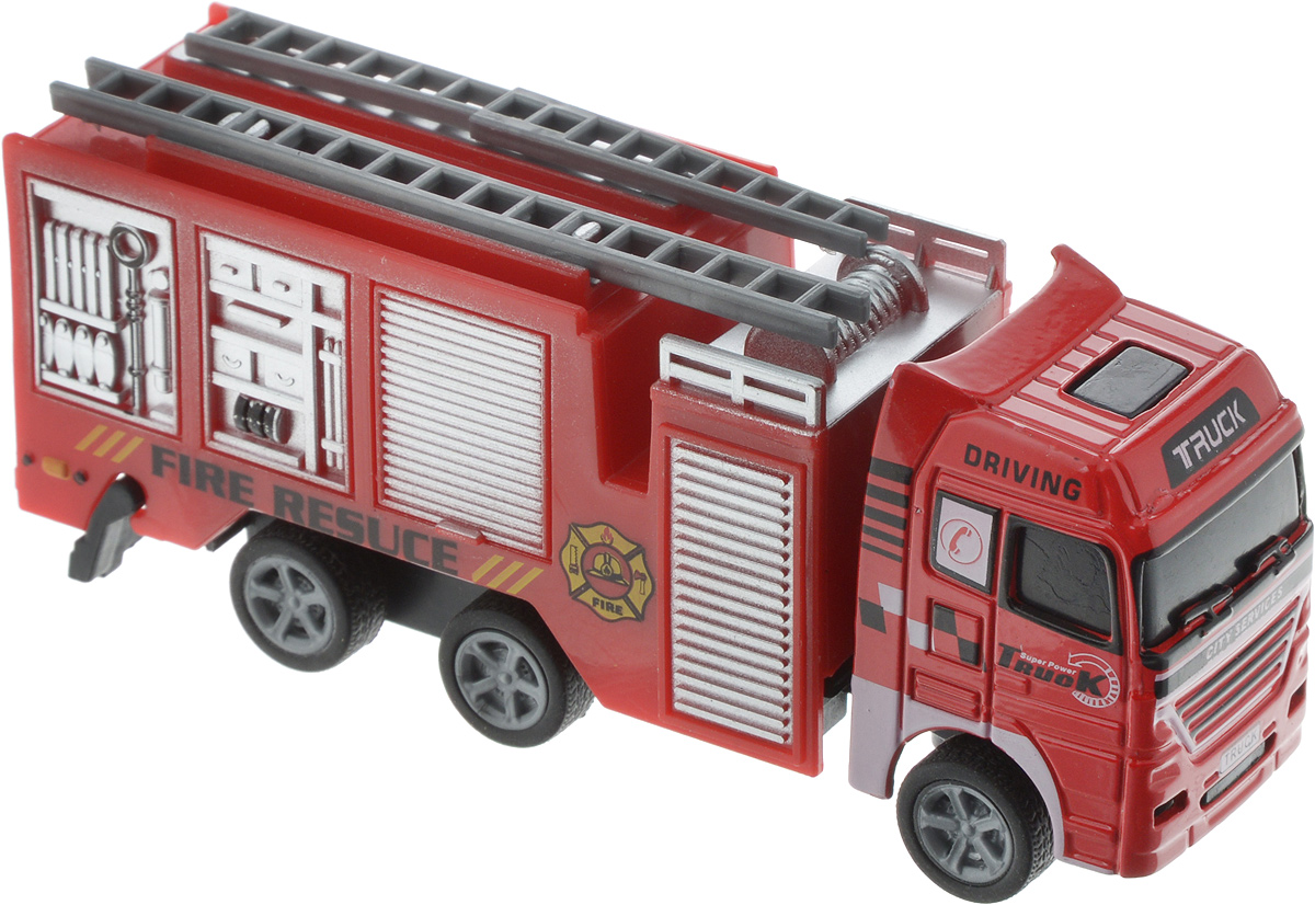 Autotime Машинка Fire Crew Пожарная вид 3 пламенный мотор машинка инерционная volvo пожарная охрана