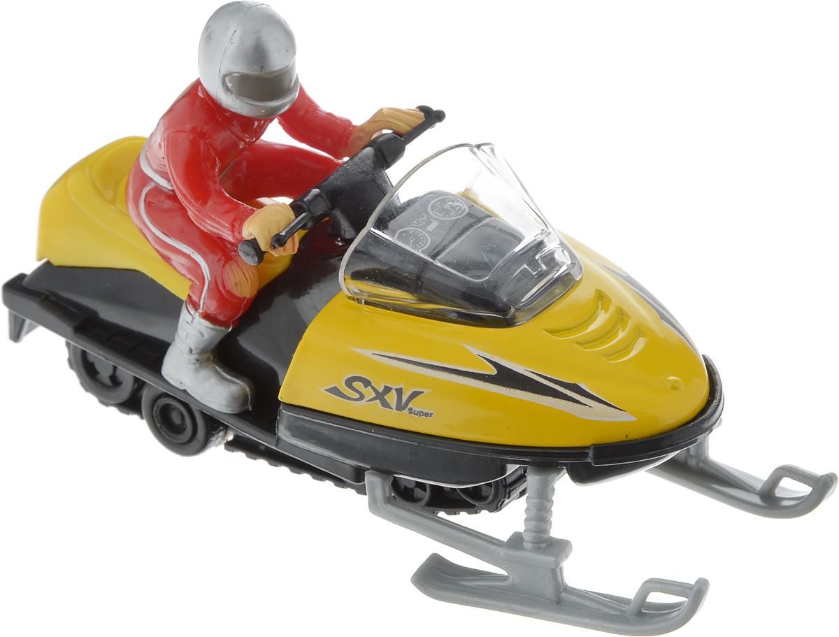 ТехноПарк Снегоход с фигуркой цвет желтый