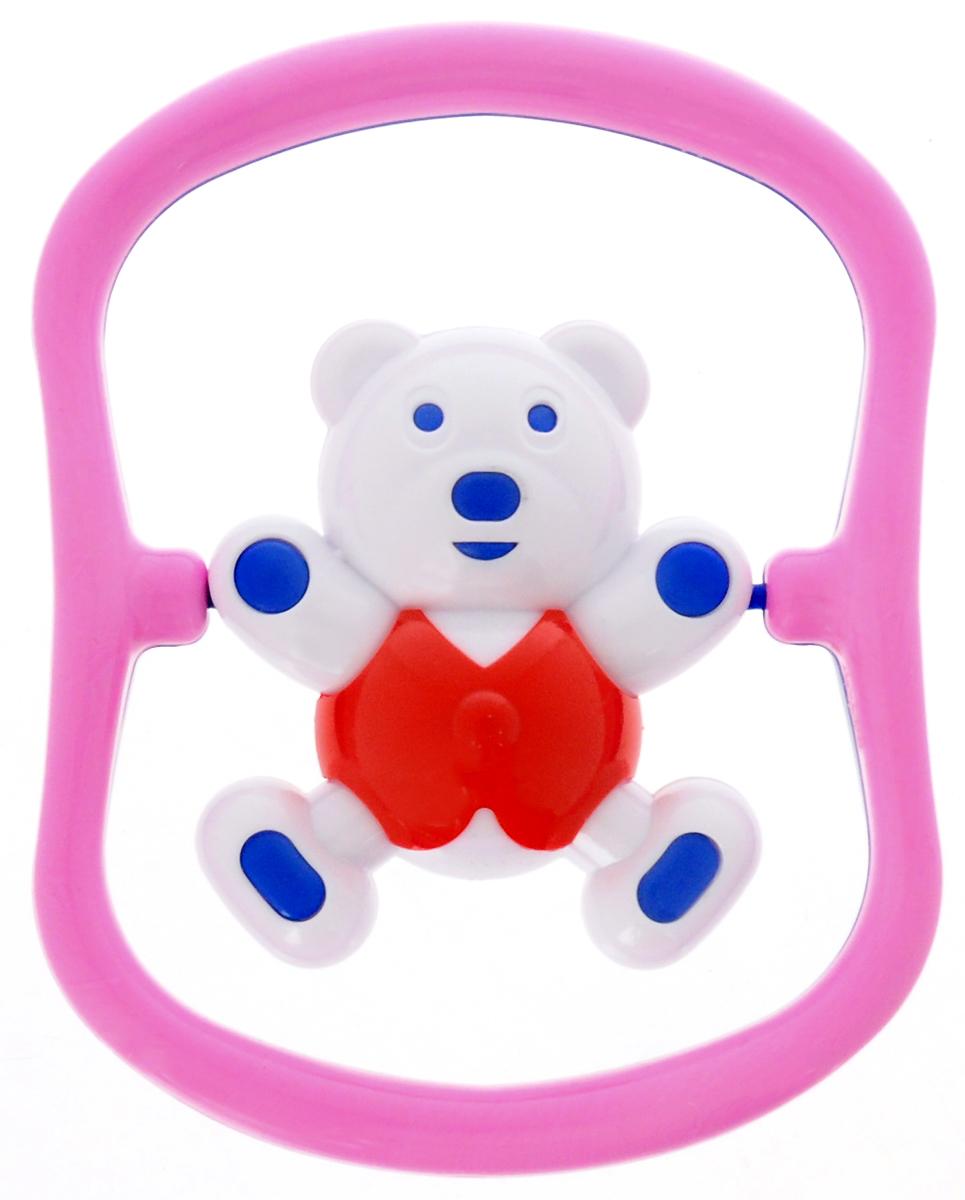 Аэлита Погремушка Мишка-баюн цвет синий розовый красный
