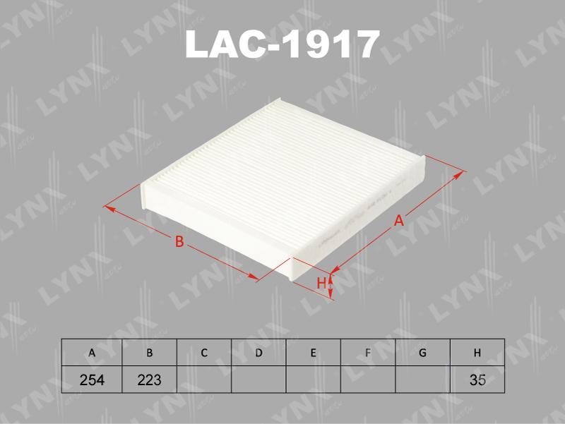 Фильтр салона Lynx LAC-1917LAC-1917