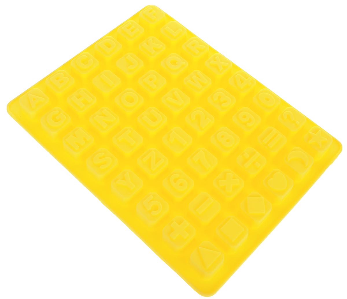 Форма для льда и шоколада Доляна Английский алфавит, цвет: желтый, 48 ячеек, 23,5 х 18 х 1,6 см1403979_желтыйФигурная форма для льда и шоколада Доляна Английский алфавит выполнена из пищевого силикона, который не впитывает запахов, отличается прочностью и долговечностью. Материал полностью безопасен для продуктов питания. Кроме того, силикон выдерживает температуру от -40°С до +250°С, что позволяет использовать форму в духовом шкафу и морозильной камере. Благодаря гибкости материала готовый продукт легко вынимается и не крошится. С помощью такой формы можно приготовить оригинальные конфеты и фигурный лед. Приготовить миниатюрные украшения гораздо проще, чем кажется. Наполните силиконовую емкость расплавленным шоколадом, мастикой или водой и поместите в морозильную камеру. Вскоре у вас будут оригинальные фигурки, которые сделают запоминающимся любой праздничный стол! В формах можно заморозить сок или приготовить мини-порции мороженого, желе, шоколада или другого десерта. Особенно эффектно выглядят льдинки с замороженными внутри ягодами или дольками фруктов. Заморозив настой из трав, можно использовать его в косметологических целях. Форма легко отмывается, в том числе в посудомоечной машине.