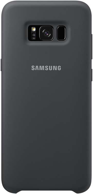 Samsung Silicone Cover чехол для Galaxy S8, Dark GrayEF-PG950TSEGRUБлагодаря плавным линиям Galaxy S8, смартфон уже удобно лежит в руке, а чехол Silicone Cover с мягким, приятным на ощупь софт тач покрытием, только усиливает это ощущение комфорта.Силиконовый чехол с внутренней мягкой подкладкой из микроволокна надёжно защищает корпус смартфона от повреждений.