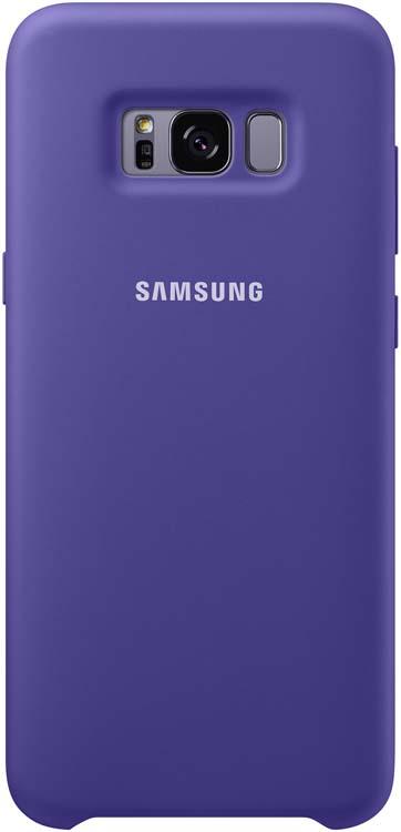 Samsung Silicone Cover чехол для Galaxy S8, VioletEF-PG950TVEGRUБлагодаря плавным линиям Galaxy S8, смартфон уже удобно лежит в руке, а чехол Silicone Cover с мягким, приятным на ощупь софт тач покрытием, только усиливает это ощущение комфорта.Силиконовый чехол с внутренней мягкой подкладкой из микроволокна надёжно защищает корпус смартфона от повреждений.
