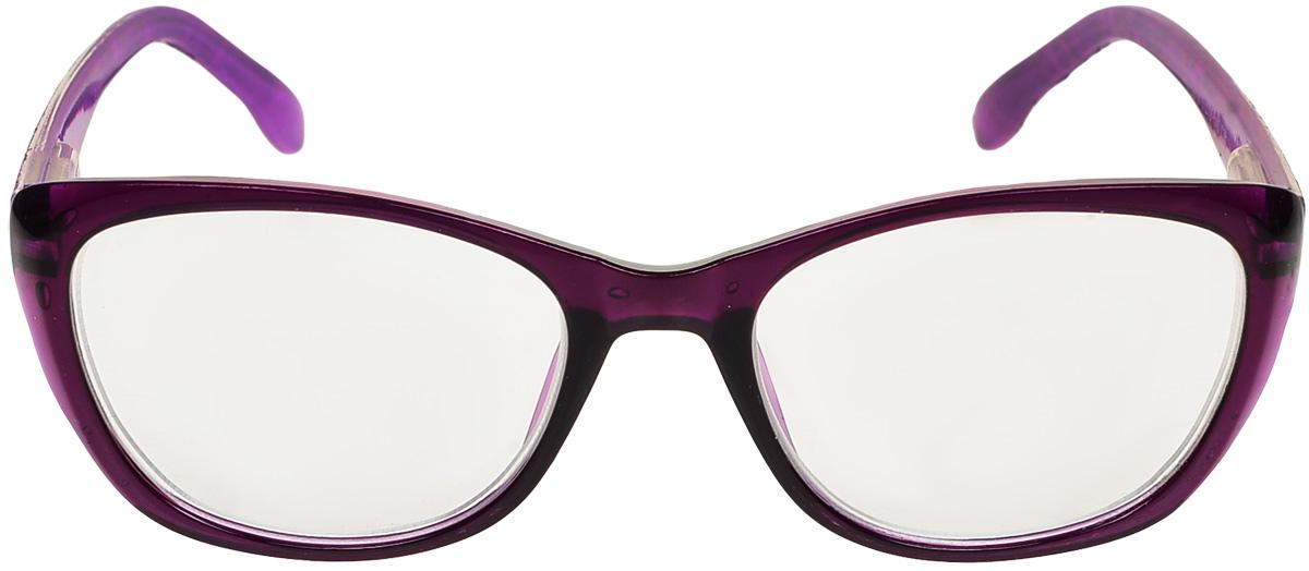 Proffi Home Очки корригирующие (для чтения) 3422 Oscar -2.00, цвет: фиолетовыйPH5792_фиолетовыйКорригирующие очки, это очки которые направлены непосредственно на коррекцию зрения. Готовые очки для чтения с минусовыми и плюсовыми диоптриями (от -2,5 до + 4,00), не требующие рецепта врача. За счет технологически упрощенной конструкции и отсутствию этапа изготовления линз по индивидуальным параметрам - экономичный готовый вариант для людей, пользующихся очками нечасто, в основном, для чтения.