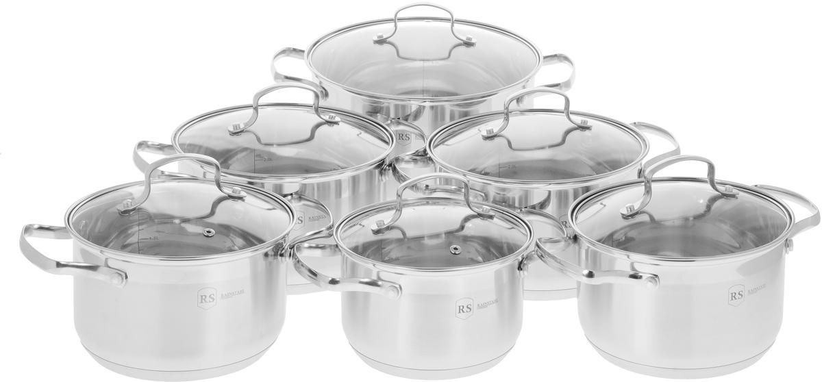 Набор посуды Rainstahl, цвет: стальной, 12 предметов. 1213-12RS\CW набор посуды rainstahl 8 предметов 1230 08rs cw bk
