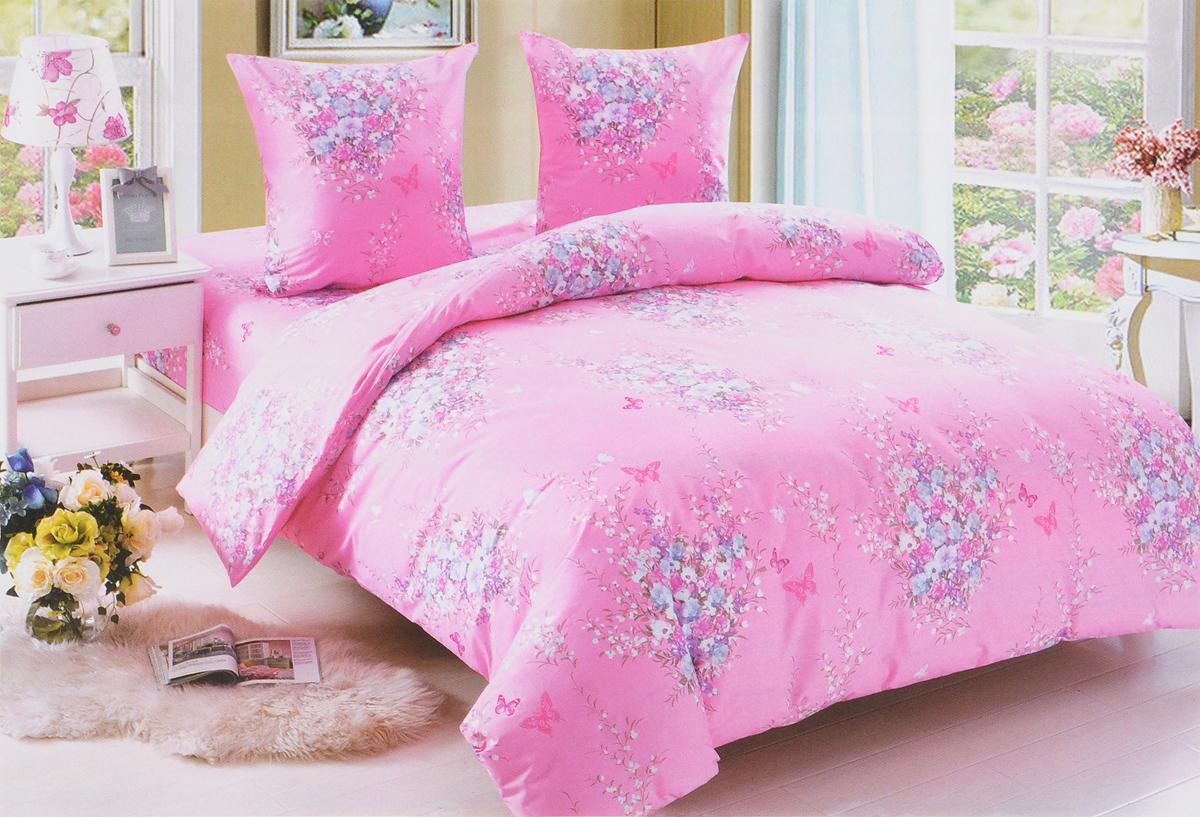 Комплект белья Amore Mio Flora, 2-спальный, наволочки 70x70, цвет: розовый, белый, голубой. 8937589375Комплект постельного белья Amore Mio Flora является экологически безопасным для всей семьи, так как выполнен из поплина (100% хлопок). Постельное белье оформлено оригинальным рисунком и имеет изысканный внешний вид. Комплект постельного белья из поплина отличается высоким качеством, практичностью в использовании и выразительностью дизайнов. Кроме практичных качеств, белье красивое и необычайно приятное на ощупь.