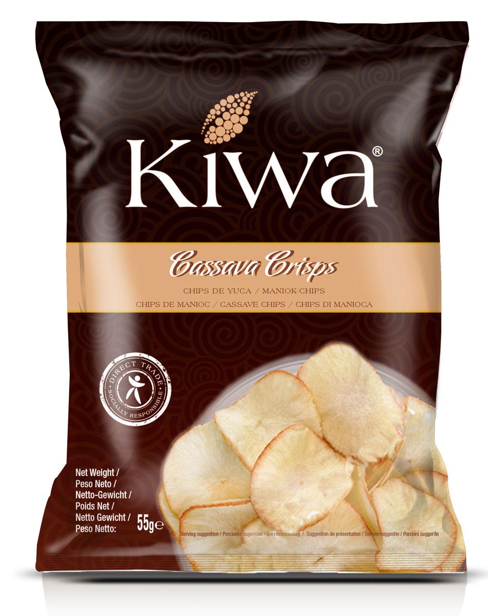 Kiwa Чипсы из маниоки кассавы, 55 г недорого