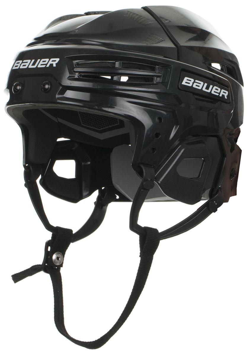 Шлем Bauer IMS 5.0, цвет: черный. 1045678. Размер M1045678Конструкция шлема Bauer 4500 Combo имеет классический вид, верхняя часть с двумя выступающими гребнями и подкладка из вспененного винил-нитрила двойной плотности обеспечивают защиту во время всего матча. Защитный и гибкий материал двойной плотности. Интегрированная защита уха.CSA, HECC, сертификаты СЕ. Маска в комплект не входит.