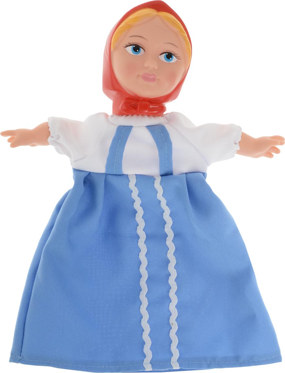 Sima-land Мягкая игрушка на руку Аленушка цвет платья голубой кармашки на стену sima land люблю школу цвет красный желтый коричневый 5 шт