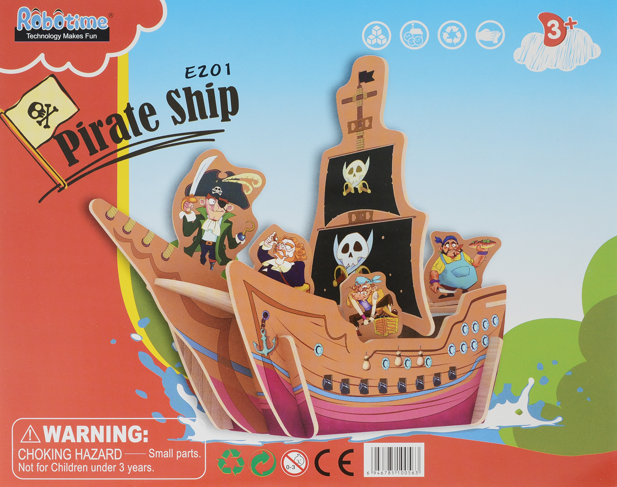 Robotime 3D Пазл Пиратский корабль