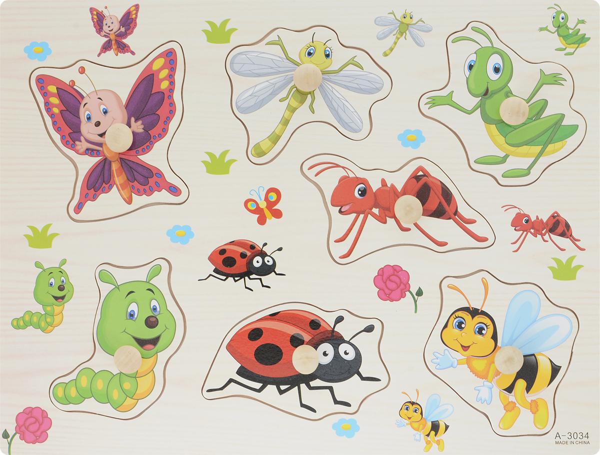 Фабрика Фантазий Пазл для малышей Насекомые фабрика фантазий пазл для малышей рамка вкладыш животные