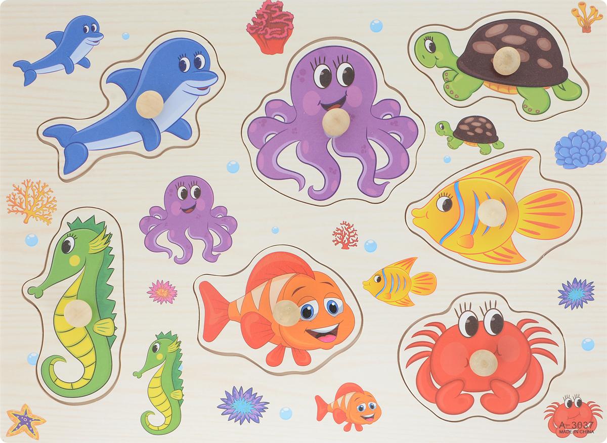 Фабрика Фантазий Пазл для малышей Морские обитатели 3 фабрика фантазий пазл для малышей рамка вкладыш животные