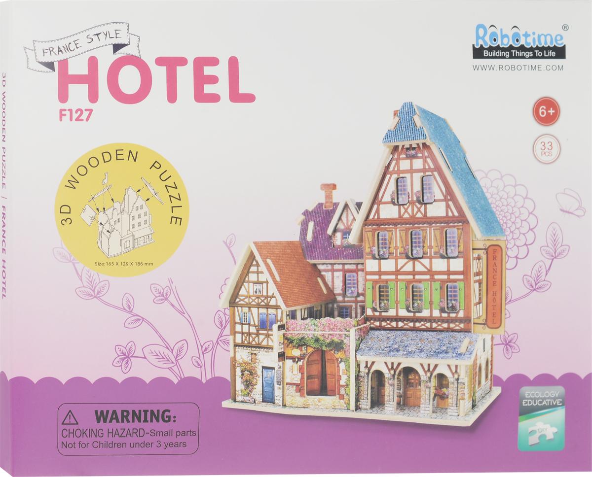 Robotime 3D Пазл Французский отель