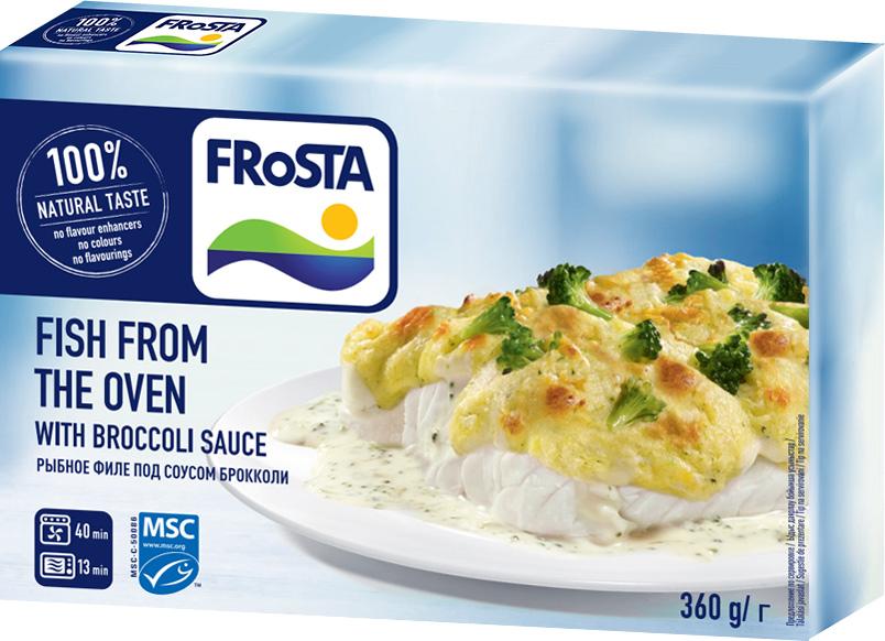Frоsta Рыбное филе под соусом Брокколи, 360 г5900972005681Необыкновенный вкус, быстро, удобно, вкусно в сочетании с капустой броколли.