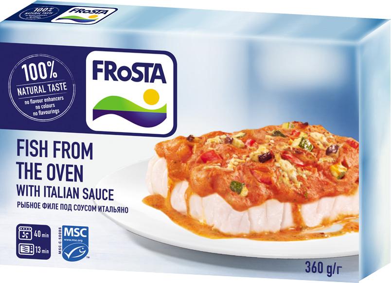 Frоsta Рыбное филе под соусом Итальяно, 360 г globster мега филе филе тресковых пород в хрустящей корочке 300 г