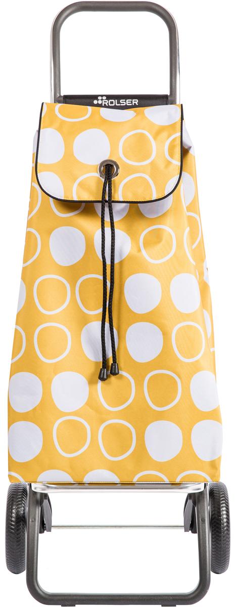 Сумка-тележка Rolser Convert Rg, цвет: желтый, 43 л. IMX086IMX086 AmarilloТележка занимает минимальное место при хранении. Эта удобная сумка-тележка пригодится каждой хозяйке. Её мобильность и простота позволит без труда ей пользоваться. При правильном использовании сумка прослужит 10-15 лет, для этого необходимо соблюдать грузоподъемность до 25 кг.Сумка закрывается при помощи шнура, который можно затянуть. Верх защищен клапаном. Есть внутренний карман для мелочей.диаметр колес 16,5см