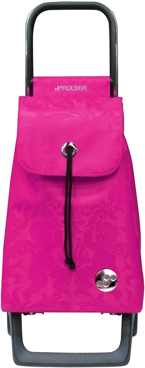Сумка-тележка Rolser Joy-1800, цвет: розовый, 32 л. BAB008BAB008 fucsiaТележка занимает минимальное место при хранении. Эта удобная сумка-тележка пригодится каждой хозяйке. Её мобильность и простота позволит без труда ей пользоваться. При правильном использовании сумка прослужит 10-15 лет, для этого необходимо соблюдать грузоподъемность до 25 кг. Сумка закрывается при помощи шнура, который можно затянуть. Верх защищен клапаном. Есть внутренний карман для мелочей.диаметр колес 13,2см