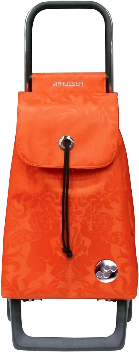 Сумка-тележка Rolser Joy-1800, цвет: оранжевый, 32 л. BAB008BAB008 mandarinaТележка занимает минимальное место при хранении. Эта удобная сумка-тележка пригодится каждой хозяйке. Её мобильность и простота позволит без труда ей пользоваться. При правильном использовании сумка прослужит 10-15 лет, для этого необходимо соблюдать грузоподъемность до 25 кг. Сумка закрывается при помощи шнура, который можно затянуть. Верх защищен клапаном. Есть внутренний карман для мелочей.диаметр колес 13,2см