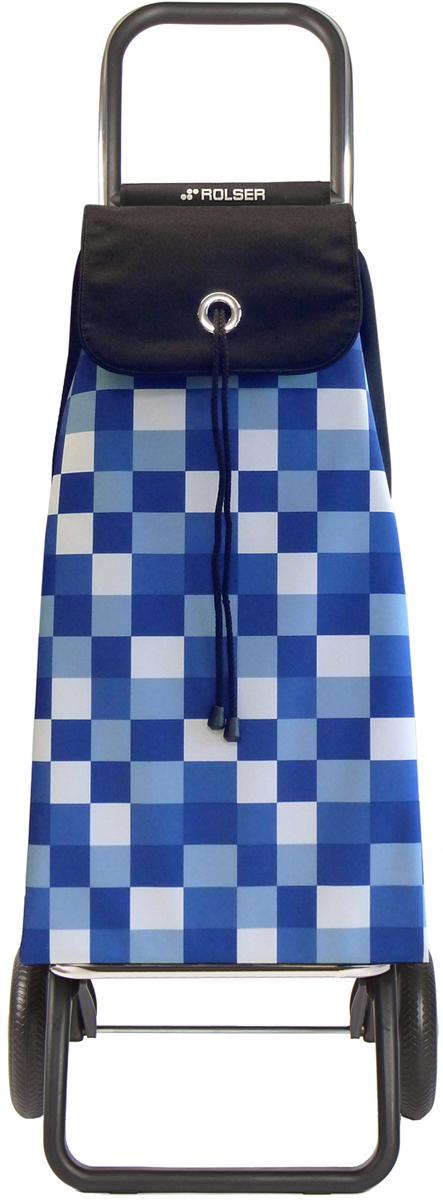 Сумка-тележка Rolser Convert Rg, цвет: синий, 43 л. IMX031IMX031 azulТележка занимает минимальное место при хранении. Эта удобная сумка-тележка пригодится каждой хозяйке. Её мобильность и простота позволит без труда ей пользоваться. При правильном использовании сумка прослужит 10-15 лет, для этого необходимо соблюдать грузоподъемность до 25 кг.Сумка закрывается при помощи шнура, который можно затянуть. Верх защищен клапаном. Есть внутренний карман для мелочей.диаметр колес 16,5см