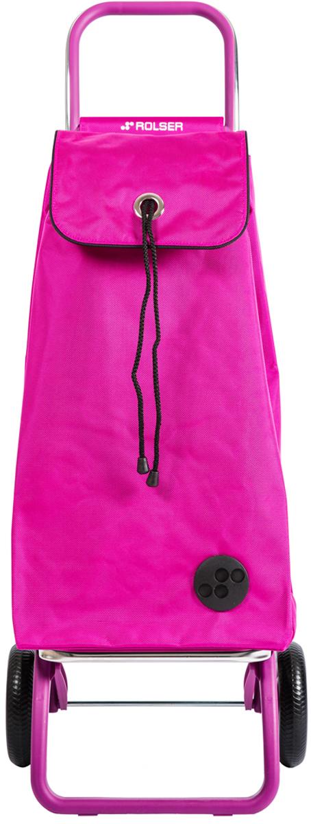 Сумка-тележка Rolser Convert Rg, цвет: розовый, 43 л. IMX072IMX072 FucsiaТележка занимает минимальное место при хранении. Эта удобная сумка-тележка пригодится каждой хозяйке. Её мобильность и простота позволит без труда ей пользоваться. При правильном использовании сумка прослужит 10-15 лет, для этого необходимо соблюдать грузоподъемность до 25 кг.Рама в цвет сумки. Сумка закрывается при помощи шнура, который можно затянуть. Верх защищен клапаном. Есть внутренний карман для мелочей.диаметр колес 16,5см