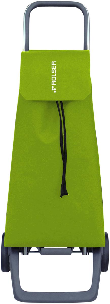 Сумка-тележка Rolser Joy, цвет: салатовый, 40 л. JET001JET001 limaТележка занимает минимальное место при хранении. Эта удобная сумка-тележка пригодится каждой хозяйке. Её мобильность и простота позволит без труда ей пользоваться. При правильном использовании сумка прослужит 10-15 лет, для этого необходимо соблюдать грузоподъемность до 25 кг. Сумка закрывается при помощи шнура, который можно затянуть. Верх защищен клапаном. Есть внутренний карман для мелочей.диаметр колес 13,2см