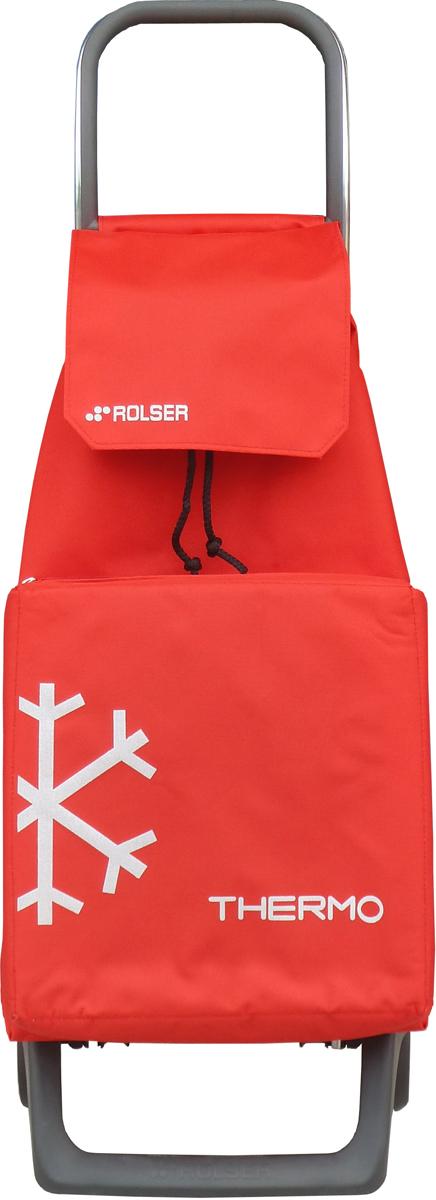 Сумка-тележка Rolser Joy, цвет: красный, 40 л. JET010370882Тележка занимает минимальное место в сложенном виде при хранении. Эта удобная сумка-тележка пригодится каждой хозяйке. Её мобильность и простота позволит без труда ей пользоваться. Вместительная модель c термо-сумкой для пикников. C такой сумкой продукты долго будут сохранять свою температуру. Теплое останется теплым на долгое время, а то, что хотелось бы охладить жарким летом – обязательно остынет! Сумка закрывается при помощи шнура, который можно затянуть. Верх защищен клапаном. Есть внутренний карман для мелочей.диаметр колес: 13,2см