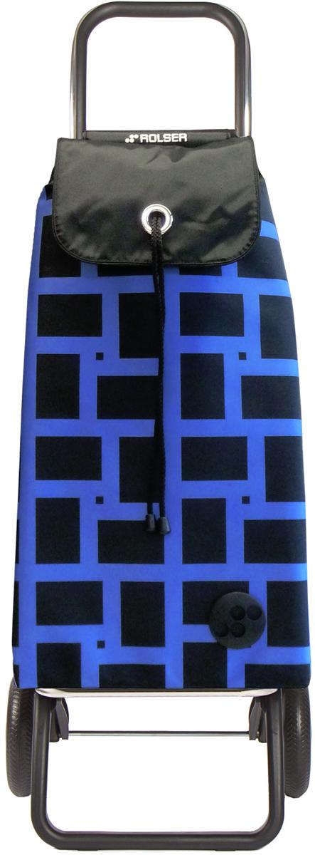 Сумка-тележка Rolser Convert Rg, цвет: синий, 43 л. IMX025IMX025 azulТележка занимает минимальное место при хранении. Эта удобная сумка-тележка пригодится каждой хозяйке. Её мобильность и простота позволит без труда ей пользоваться. При правильном использовании сумка прослужит 10-15 лет, для этого необходимо соблюдать грузоподъемность до 25 кг. Сумка закрывается при помощи шнура, который можно затянуть. Верх защищен клапаном. Есть внутренний карман для мелочей.диаметр колес 16,5см