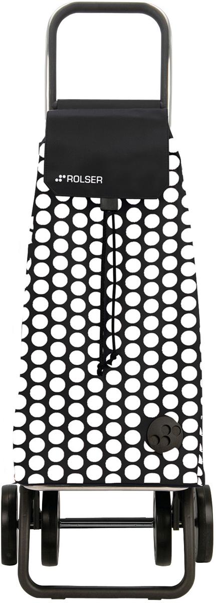 Сумка-тележка Rolser Dos+2, цвет: черный, белый, 51 л. MOU055MOU055 blanco/negroТележка занимает минимальное место при хранении. Эта удобная сумка-тележка пригодится каждой хозяйке. Её мобильность и простота позволит без труда ей пользоваться. При правильном использовании сумка прослужит 10-15 лет, для этого необходимо соблюдать грузоподъемность до 25 кг. Передняя подставка складывается. Сумка закрывается при помощи шнура, который можно затянуть. Верх защищен клапаном. Есть внутренний карман для мелочей.диаметр колес 14см