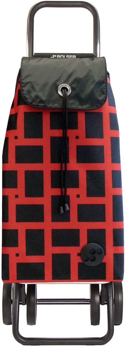 Сумка-тележка Rolser Logic Dos+2, цвет: красный, 43 л. IMX029 сумка тележка rolser logic rg цвет синий 41 л pep004