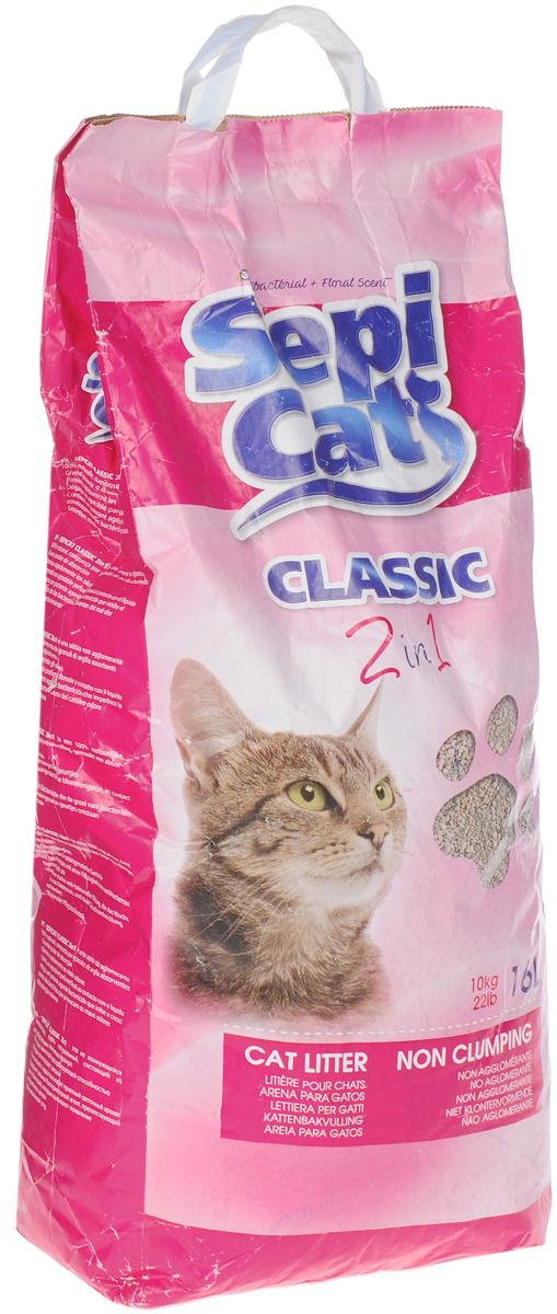 Наполнитель для кошачьих туалетов Sepiolsa  Антибактериальный , впитывающий, 16 л - Наполнители и туалетные принадлежности