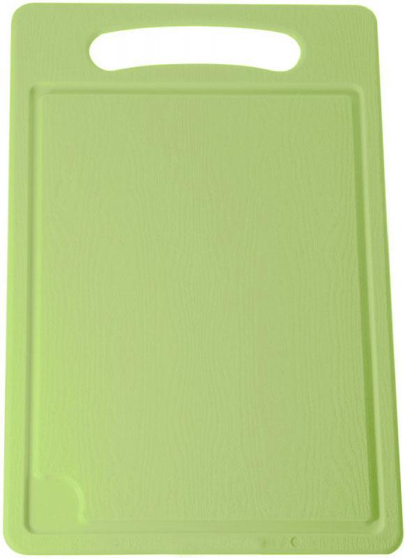 Доска разделочная Plastic Centre, цвет: светло-зеленый, 45 х 29 смПЦ1495ЛМРазделочная доска может применяться для различных видов продуктов. Доска снабжена желобком для стока жидкости для удобства применения.Доска не впитывает запахи, устойчива к воздействию ножом, благодаря чему изделие более долговечно.На кухне рекомендовано иметь несколько досок для различных видов продуктов: мяса, рыбы, хлеба и овощей.