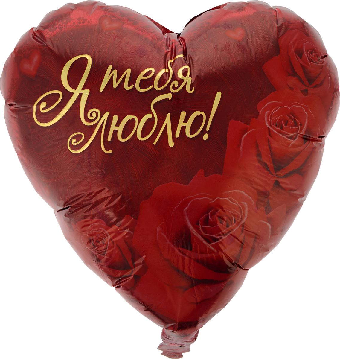 Kaleidoscope Valvomatic Шарик воздушный Сердце Любовь Розы -  Воздушные шарики
