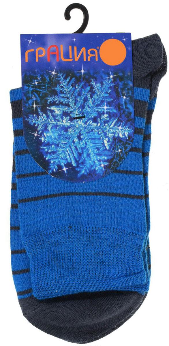 Носки женские Грация, цвет: темно-синий, голубой. М 1101. Размер 1 (35/37)М 1101Теплые женские носки Грация, изготовленные из высококачественного комбинированного материала, очень мягкие и приятные на ощупь, позволяют коже дышать. Эластичная резинка плотно облегает ногу, не сдавливая ее, обеспечивая комфорт и удобство. Шерстяные носки со стандартным паголенком оформлены принтом в поперечную полоску .Удобные и комфортные носки великолепно подойдут к любой вашей обуви.