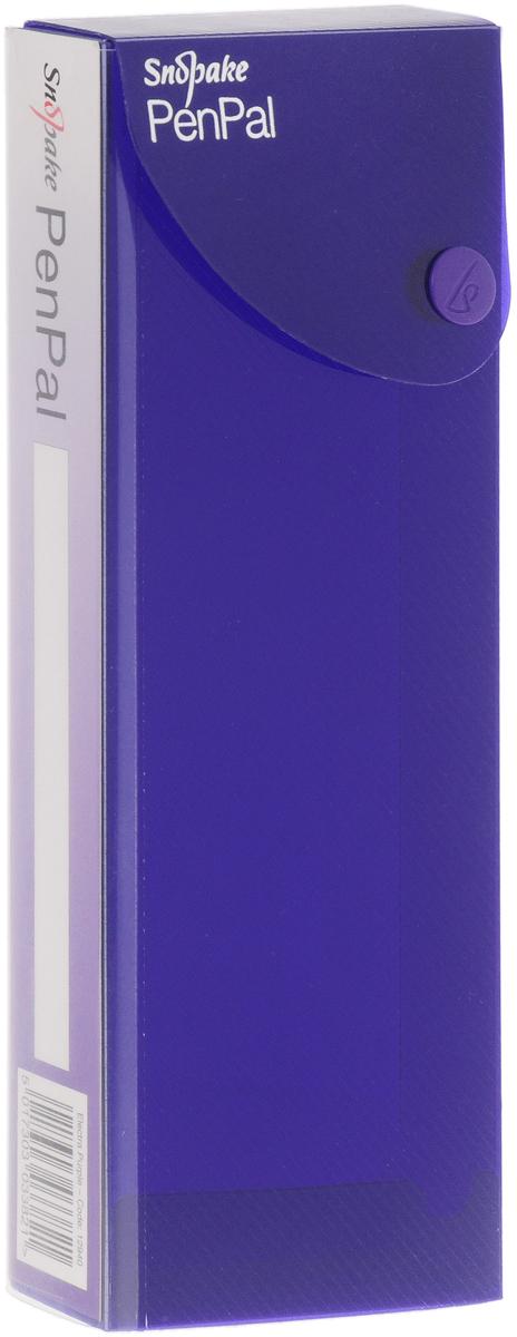 Пенал Snopake Electra, цвет: фиолетовый пенал прямоугольной формы princess