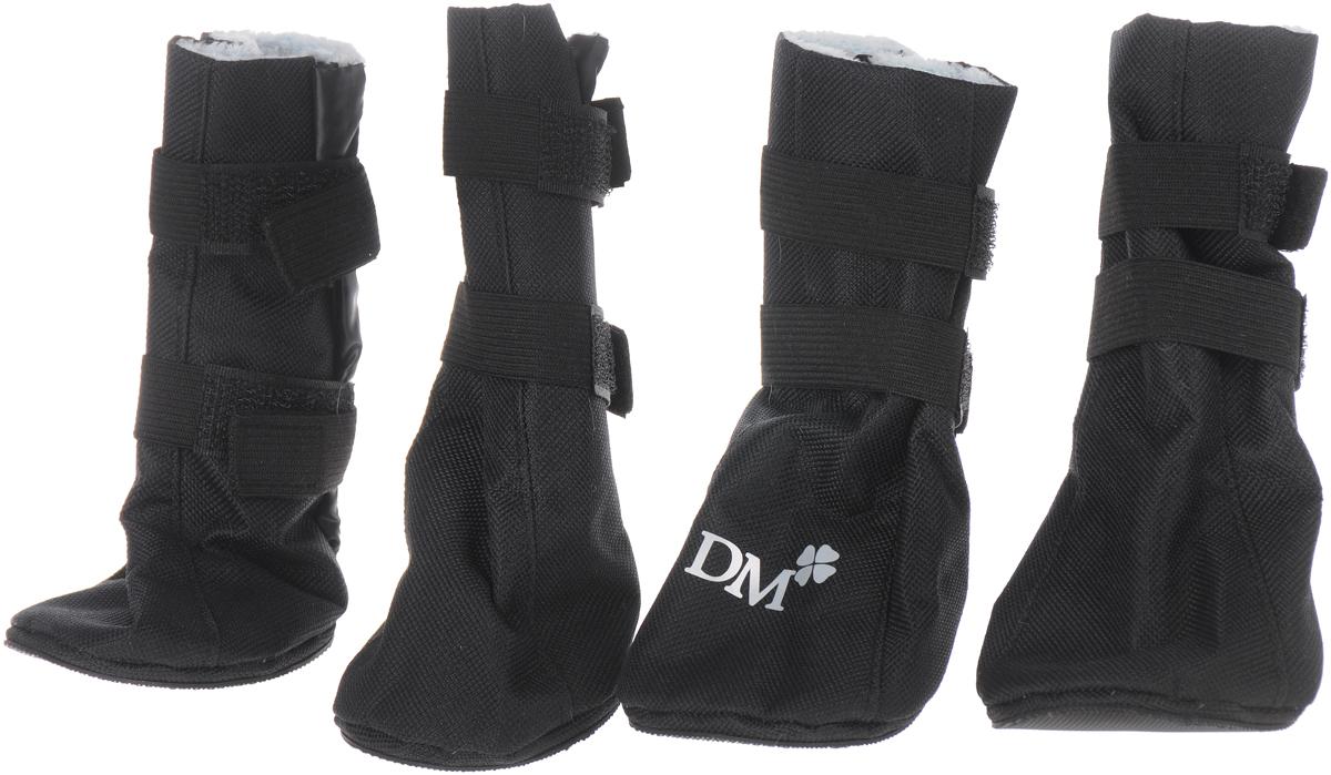 Сапожки для собак Dogmoda  Комфорт , унисекс, цвет: черный. Размер 5 (XXL) - Одежда, обувь, украшения