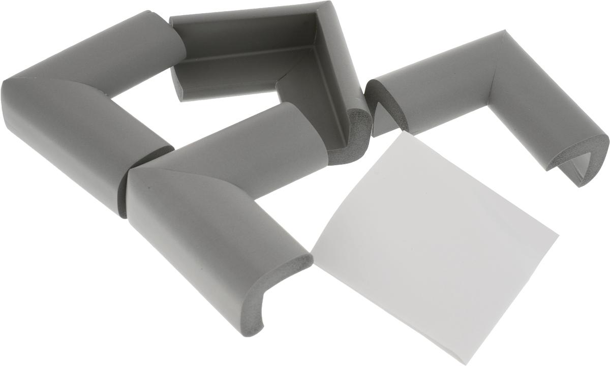Happy Baby Накладки на углы Soft Corner Guard цвет серый 4 шт -  Блокирующие и защитные устройства