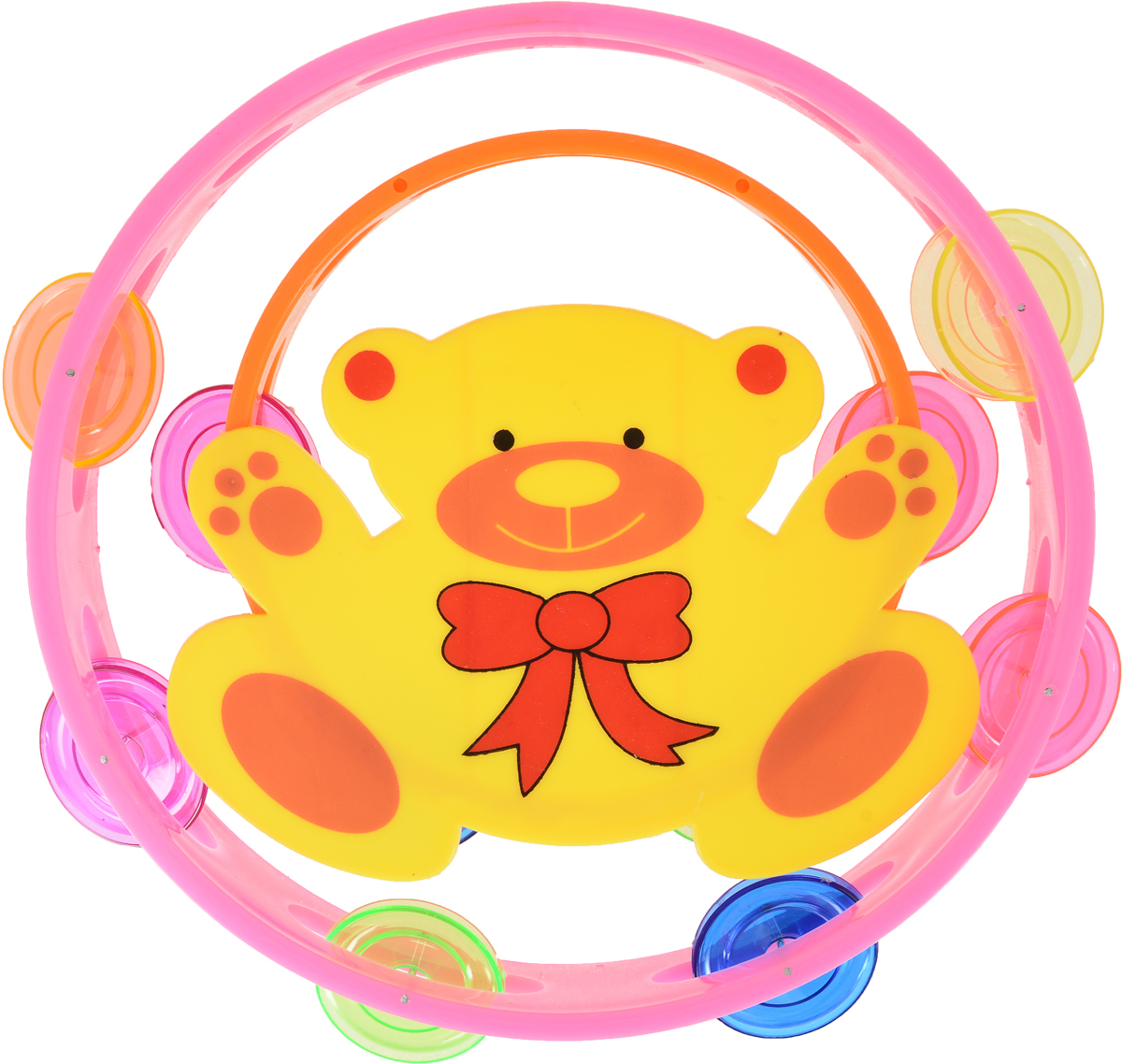 Shantou Gepai Набор бубнов цвет розовый оранжевый 2 шт музыкальные игрушки shantou gepai набор музыкальные инструменты 5 предметов
