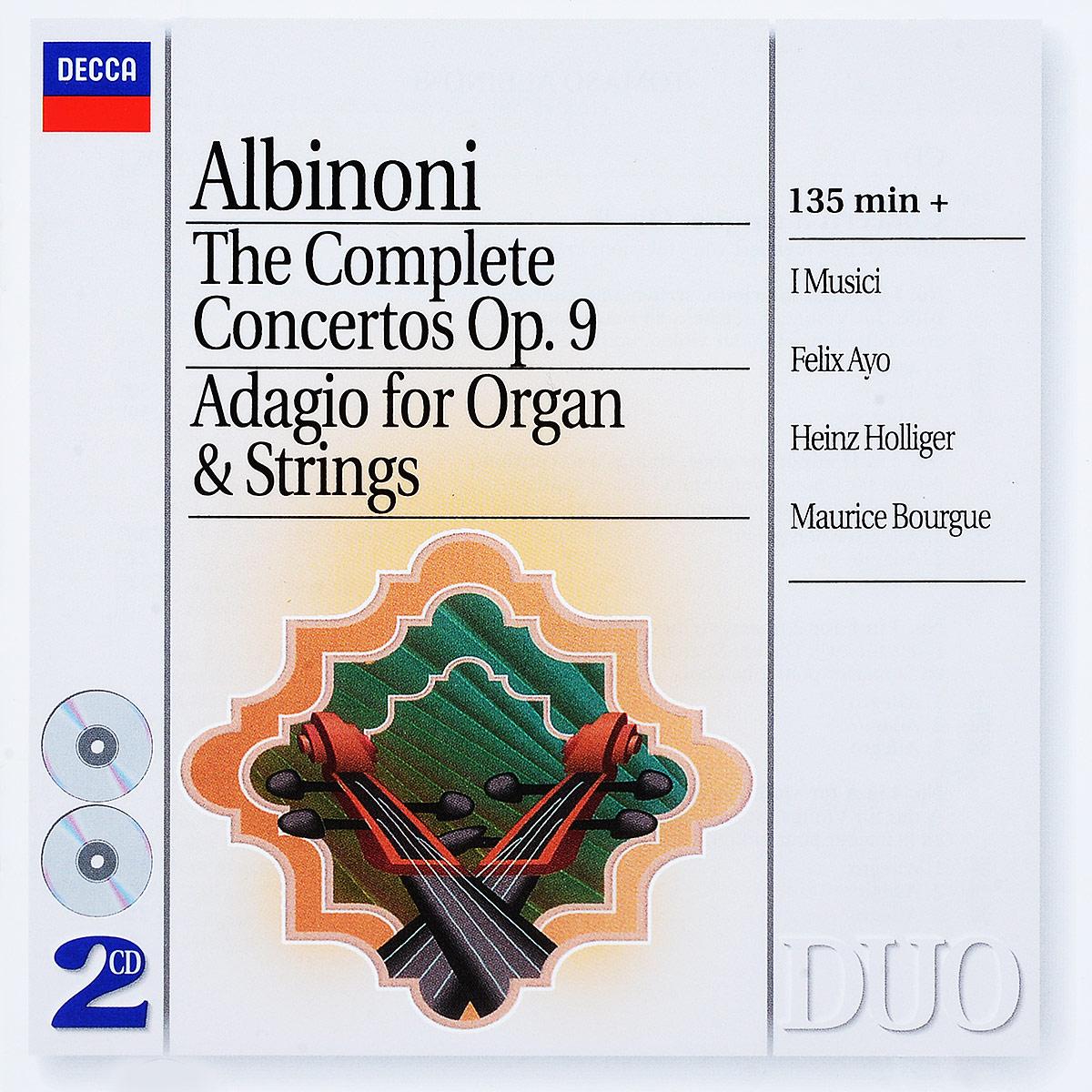 Albinoni. I Musici, Felix Ayo, Heinz Holliger, Maurice Bourgue. Concerti Op. 9 / Adagio (2 CD) ayo ayo gravity at last