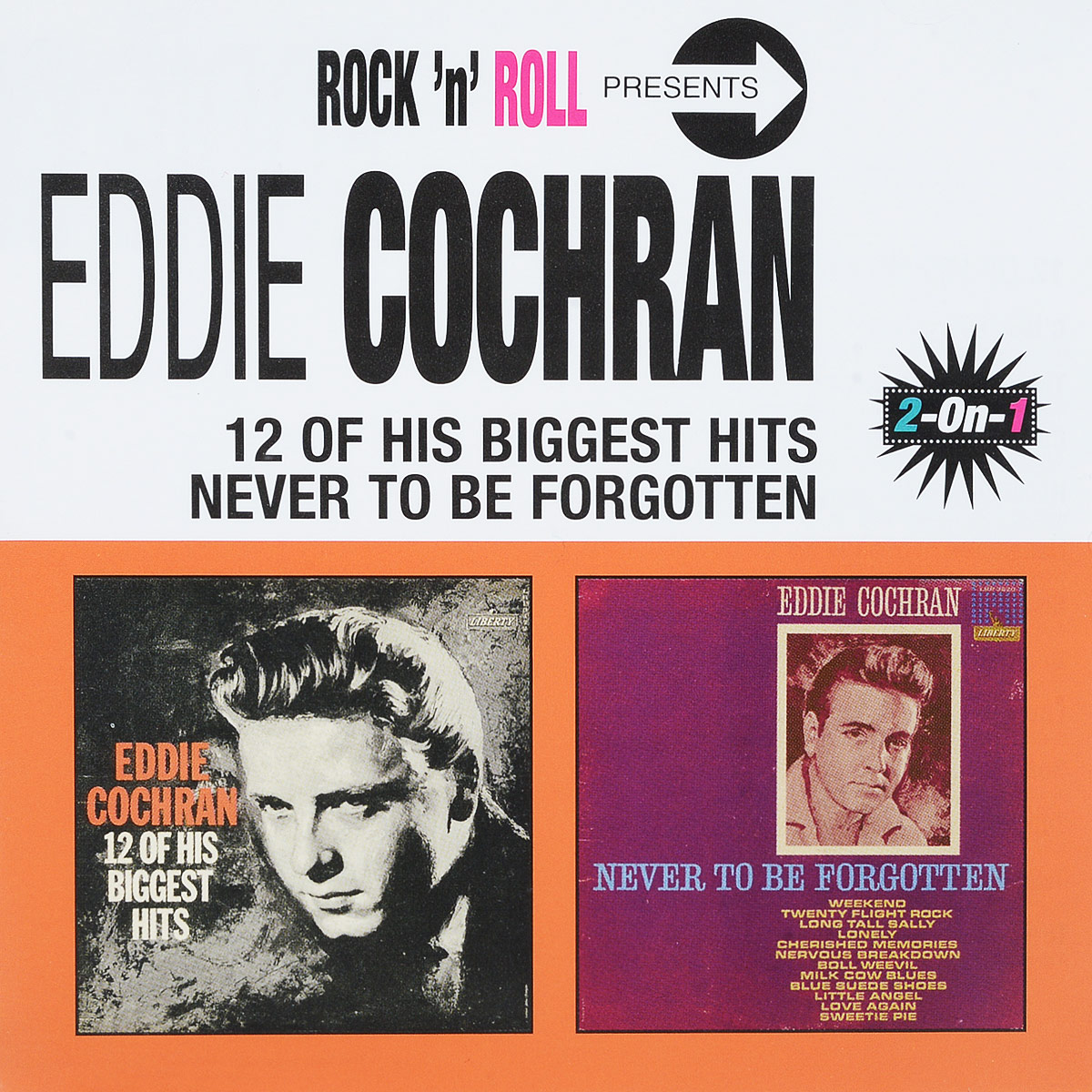 Эдди Кокрэн Eddie Cochran. 12 Of His Biggest Hits/Never To Be Forgotten