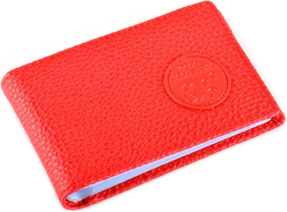 Визитница горизонтальная женская Topo Fortunato Красный Бриз. TF 111-101 el topo