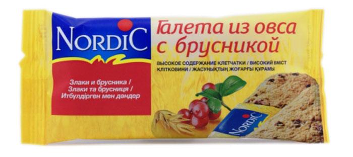 Nordic галета из овса с брусникой, 30 г6411200104230Вкусный полезный перекус, традиционный овсяный продукт (печенье из овса) по особой здоровой, полезной, финской рецептуре. Не очень сладкий продукт, не содержит молока и яиц. Удобная упаковка и все преимущества цельного зерна и овсяной каши в одной галете.