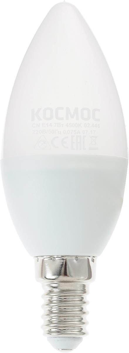 Светодиодная лампа Kosmos инновационный и экологичный продукт,  специально разработанный для эффективной замены любых видов галогенных  или обыкновенных ламп накаливания во всех типах осветительных приборов.  Основные преимущества лампы Kosmos: Служит 30000 часов, что в 30 раз дольше  лампы накаливания. Экономична - сберегает до 90% электроэнергии. Обладает  высокой механической прочностью и вибростойкостью. Устойчива к перепадам  температуры (от -40°С до +40°С).    Уважаемые клиенты!  Обращаем ваше внимание на возможные изменения в дизайне упаковки.  Качественные характеристики товара остаются неизменными. Поставка  осуществляется в зависимости от наличия на складе.