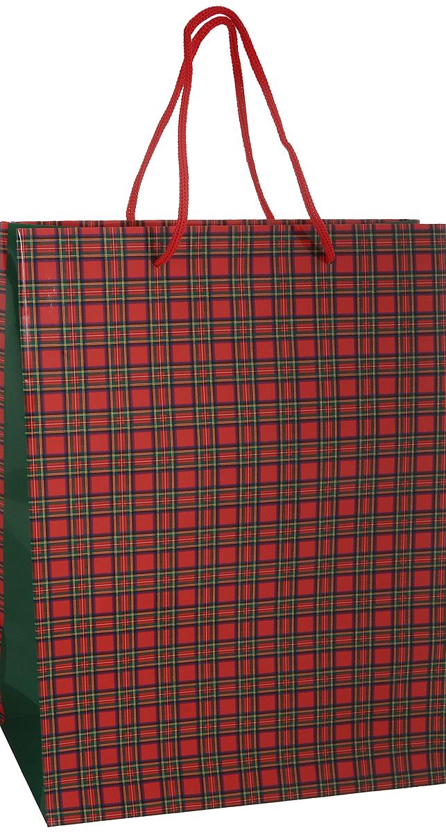 Пакет подарочный Шотландка, 25 х 35 х 9 см4610009210254Подарочный пакет Шотландка выполнен из плотной ламинированной бумаги. Оформлен принтом в виде классической шотландской клетки. Дно изделия укреплено плотным картоном, который позволяет сохранить форму пакета и исключает возможность деформации дна под тяжестью подарка. Для удобной переноски на пакете имеются две атласные ручки. Подарок, преподнесенный в оригинальной упаковке, всегда будет самым эффектным и запоминающимся. Окружите близких людей вниманием и заботой, вручив презент в нарядном, праздничном оформлении.
