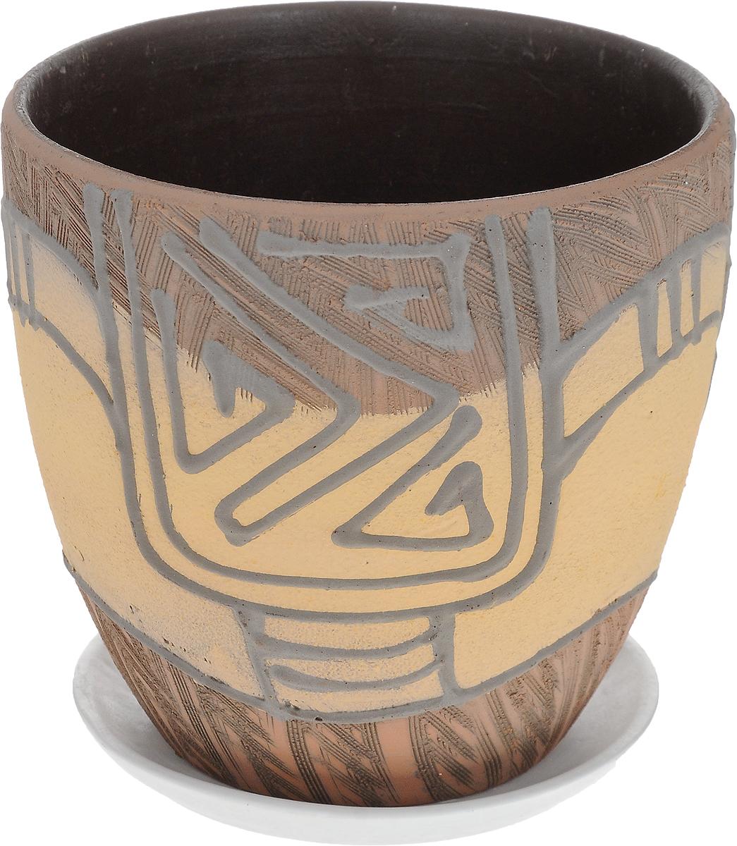 Кашпо Водоворот, 1,5 л1138557Комнатные растения — всеобщие любимцы. Они радуют глаз, насыщают помещение кислородом и украшают пространство. Каждому из них необходим свой удобный и красивый дом. Кашпо из керамики прекрасно подходит для высадки растений: за счет пластичности глины и разных способов обработки существует великое множество форм и дизайнов, пористый материал позволяет испаряться лишней влаге, воздух, необходимый для дыхания корней, проникает сквозь керамические стенки. Кашпо Водоворот освежит интерьер и подчеркнет его стиль.