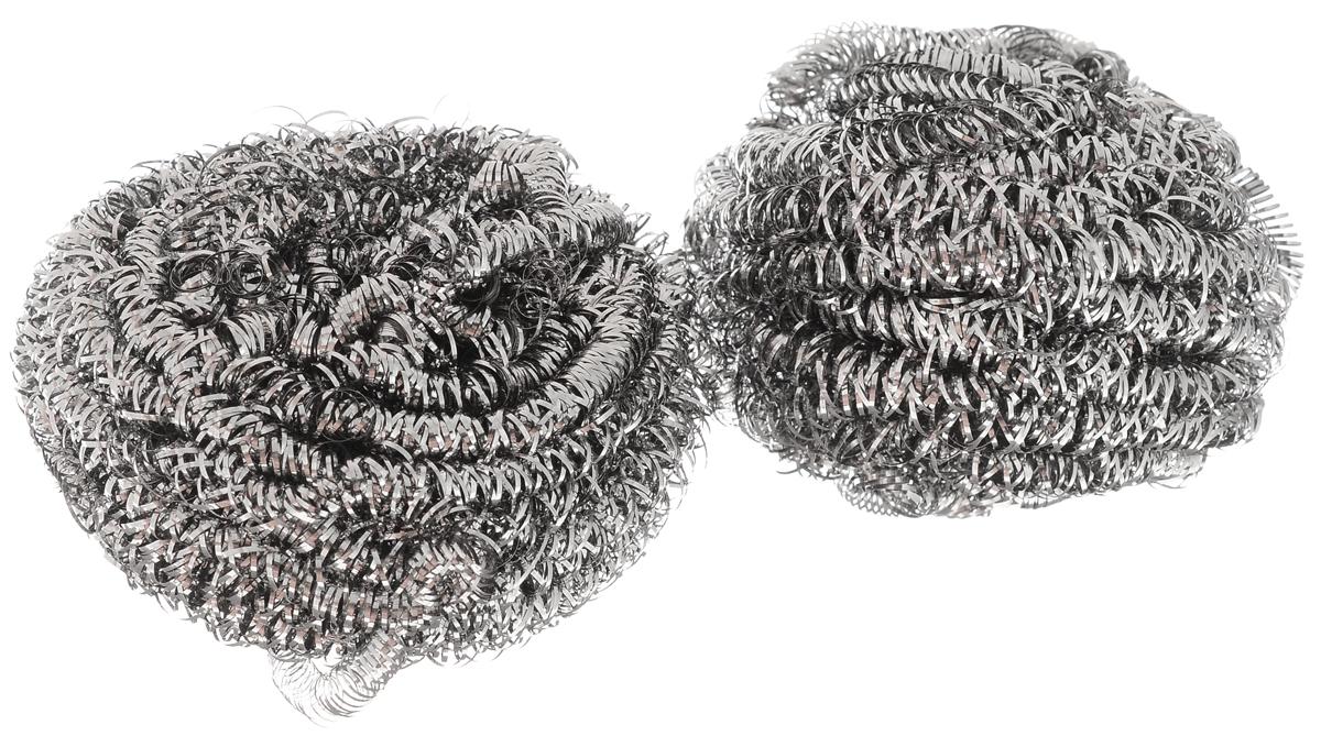 Мочалка металлическая Чистюля, 2 шт. ММ003ММ003Мочалка металлическая Чистюля имеет спирально плетение. Спирали не ломаются и не прокалывают перчатки. Действительно не ржавеет!