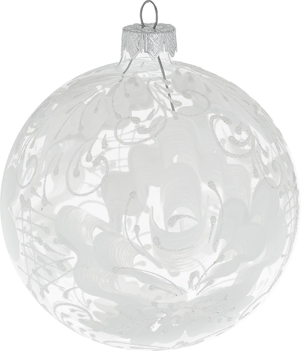 Украшение новогоднее подвесное Клавдиево Роза на прозрачном, ручная работа, диаметр 10 смH-100-0000-N-Роза на прозрачномНовогоднее украшение Роза на прозрачном ручной работы, выполненное из стекла, отлично подойдет для декорации вашего дома и новогодней ели. С помощью специальной петельки украшение можно повесить в любом понравившемся вам месте. Но, конечно, удачнее всего оно будет смотреться на праздничной елке.Елочная игрушка - символ Нового года. Она несет в себе волшебство и красоту праздника. Такое украшение создаст в вашем доме атмосферу праздника, веселья и радости.