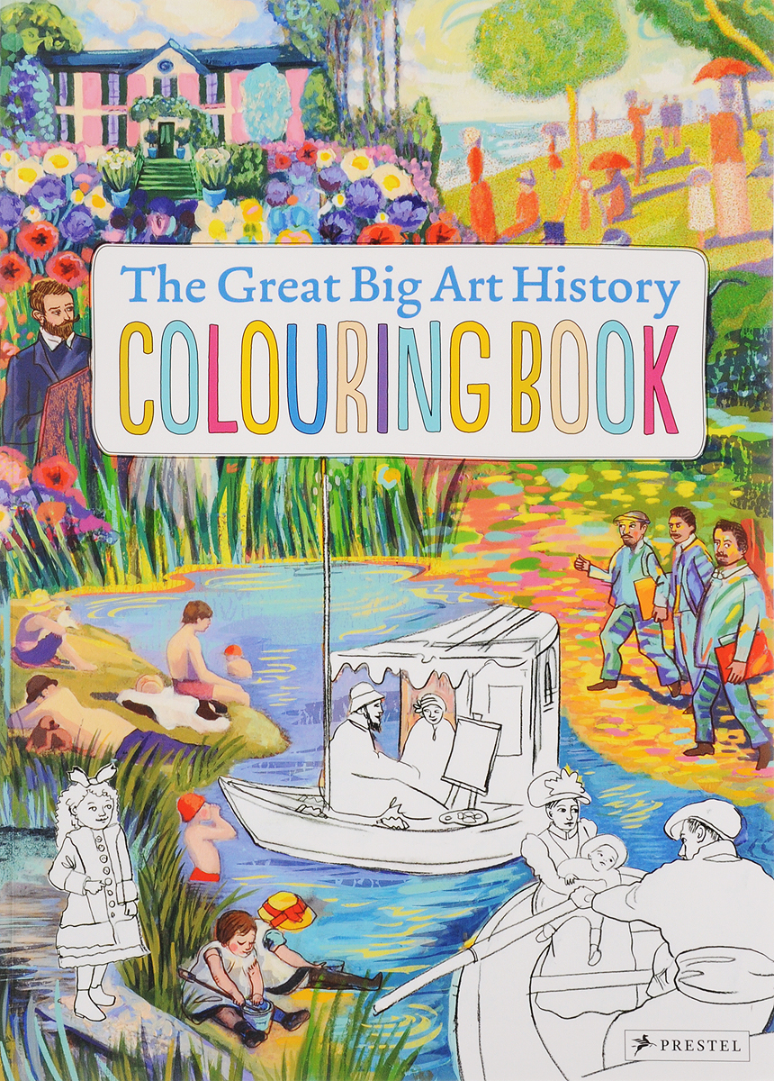 The Great Big Art History Colouring Book santa sticker and colouring book