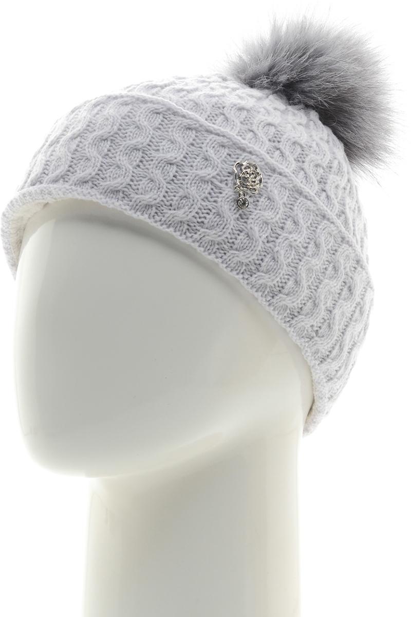 Шапка женская Vittorio Richi, цвет: светло-голубой меланж. NSH7800178. Размер 58/60NSH7800178Шапка женская Vittorio Richi выполнена из шерсти и акрила. Подкладка на флисе. Модель дополнена помпоном из натурального меха.Уважаемые клиенты!Размер, доступный для заказа, является обхватом головы.