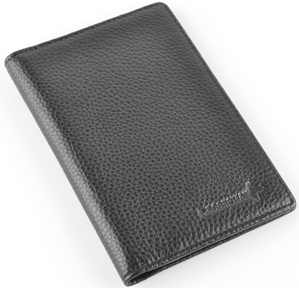 Обложка на автодокументы мужская L.Doberman, цвет: черный. LD 7740-092Натуральная кожаОбложка на автодокументы натуральная кожа. Размер 9,5х13,3 см. С левой стороны кожаный захват, два кармашка для пластиковых карт, прозрачное окошко для пропуска, с правой стороны пластиковый захват. Вкладыш для автодокументов.
